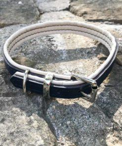 Colliers et laisses pour chiens en cuir de luxe gris et creme