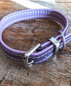 Colliers et laisses pour chiens en cuir de luxe lilac et violet